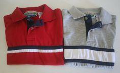 2 Boys Short Sleeve Polo Shirts Big Creek Clothing Co. Size 4/5 Red & Gray #BigCreekClothingCo #DressyEverydayHoliday