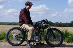 Today's feature bike a Custom Royal Enfield aka Pup built by Old Empire Motorcycles is like a time machine, taking me right back to the time Vintage Motorcycles, Custom Motorcycles, Custom Bikes, Brat Cafe, Enfield Motorcycle, Royal Enfield, Bike Trails, Ducati, Bobbers