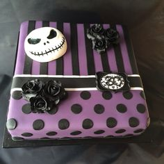 Nightmare before Christmas Birthday Cake. I would love this to be ...