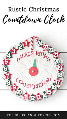 How Long Until Christmas, Countdown Until Christmas, Countdown Clock, Outdoor Christmas Decorations, Rustic Christmas, Christmas Crafts, Holiday Decor, Diy Projects On A Budget, Clock Painting
