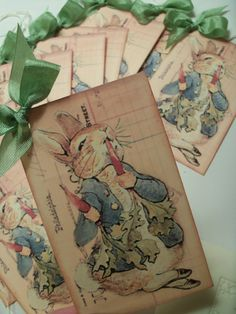 Peter Rabbit Baby Shower FavorTags  Beatrix PotterSet by JustTags, $3.00