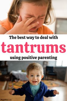 How to handle your child's tantrums in a gentle and positive way: A list with great tips to help you deal with tantrums easier and prevent them from bringing chaos into your home.  - Toddler tantrums | How to stop tantrums