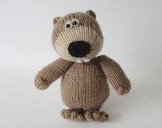 Milkshake the Cow toy knitting pattern by fluffandfuzz on Etsy