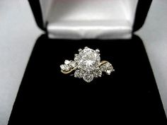 Diamond Engagement Ring Leaf Engagement Ring White Gold Ring Solitaire Diamond Ring – Fine Jewelry Ideas 8 Most Beautiful Vintage and Antique Engagement Rings Antique Wedding Rings, Antique Engagement Rings, Diamond Wedding Rings, Diamond Engagement Rings, Solitaire Diamond, Bridal Rings, Oval Diamond, Emerald Diamond, Wedding Bands