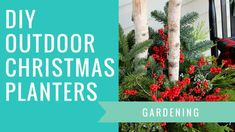 How To Paint A Front Door Without Removing It - House of Hawthornes Outdoor Christmas Planters, Christmas Porch, Outdoor Christmas Decorations, Christmas Baskets, Outdoor Planters, Christmas Christmas, Vintage Christmas Ornaments, Christmas Crafts, Christmas Ideas