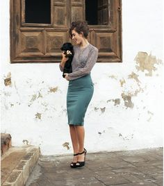 Pencil skirt sewing pattern.    This true high waisted pencil skirt is gorgeous and flattering for the figure, with princess seams to get the perfect fit! You can never go wrong with a princess seam pencil skirt, it is great for most occasions.