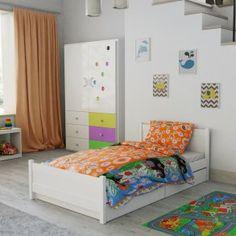 Dětské povlečení do postýlky oranžové modré krtek krteček kreslené zvířátka Toddler Bed, Furniture, Home Decor, Child Bed, Decoration Home, Room Decor, Home Furnishings, Home Interior Design, Home Decoration