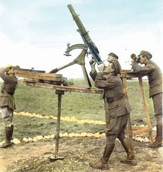"historicalfirearms: ""WWI Anti-Aircraft Machine Guns. World War One saw the first widespread use of aeroplanes, first as observation platforms and later in both air and ground attack roles."