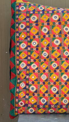 Super large Banjara tribal textile cushion cover Vintage