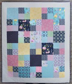 Love this version of our free Fat Quarter Shop pattern: Layer Cake Checkmate!