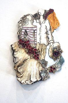 pandoraartshopwl26 Sculpture Clay, Sculptures, Clay Art, Wool Felt, Decoupage, Carving, Random, Places, Dibujo