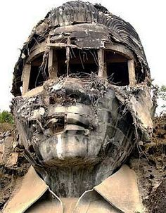 No...does this REALLY exist? I must see it!!! The 99 foot concrete portrait of Ferdinand Marcos.