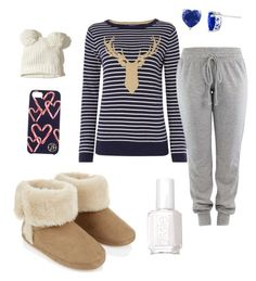 """Xmas eve"" by ida-christena-gammon on Polyvore featuring Joules, Accessorize, Hollister Co., Essie and Draper James"
