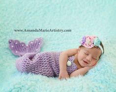 Princess Mermaid Outfit - Mermaid Tail, top and and tiny fancy mermaid crown ,crochet baby shower gift, Newborn Photo Prop Girls Mermaid Tail, Crochet Mermaid Tail, Crochet Baby, Mermaid Tails, Irish Crochet, Mermaid Mermaid, Vintage Mermaid, Baby Princess Costume, Baby Mermaid Outfit