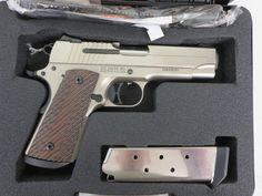 Used Sig Sauer 1911 .45 acp w/ case and extra magazine $895 - http://www.gungrove.com/used-sig-sauer-1911-45-acp-w-case-and-extra-magazine-895/