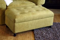 Another re-upholstered ottoman