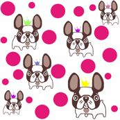 french bulldog cartoon world:) fabric by lil_creatures for sale on Spoonflower - custom fabric, wallpaper and wall decals