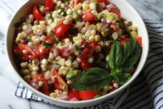 Corn + Tomato Salad.