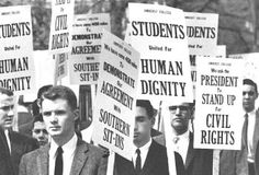 White Students march for Civil Rights in Washington D.C. 1960