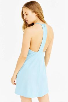 Silence + Noise Marci Carved-Neck Ponte Mini Dress - Urban Outfitters