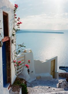 Mediterranean Minimalist Traditional Hotels: Steps leading to Amoudi Bay.