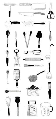 Wallpaper for Waitrose cookery school by Ryn Frank www.rynfrank.co.uk