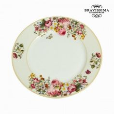 €Assiette plate bloom white - Collection Kitchen's Deco by Bravissima Kitchen Kitchenware, Tableware, White Dinner Plates, Doritos, Serving Dishes, Home Kitchens, Decorative Plates, Collection, Trays