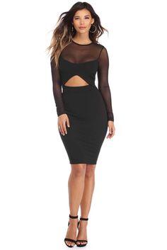 Black Adore You Midi Dress   WindsorCloud