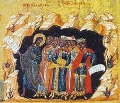 The Old Testament righteous follow Christ from Hades to Heaven (Russian icon)
