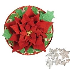 2020 nuovo Muore Di Natale Del Fiore Del Metallo Fustelle Scrapbooking Goffratura Cartella Per La Fabbricazione della carta Stencil Template Album Decor|Fustelle| - AliExpress Diy Scrapbook, Scrapbook Albums, Poinsettia Flower, Christmas Ribbon, Types Of Flowers, Art Store, Flower Frame, Paper Cards, Metallica