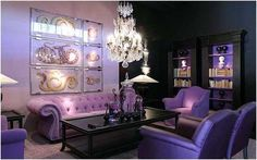 Decoración interior morado | clásicos y hasta helenistas con colores actuales como morados www.gruposur.com.