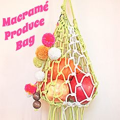 Tutorial on how to make this Macramé Produce Bag!