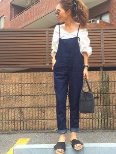 紐のサロペットは 可愛くも、カジュアルにも着こなせそうです インスタ❤︎ Instagram