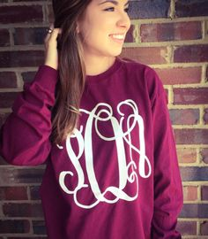 ALL LONG SLEEVE MONOGRAMS ON SALE NOW!