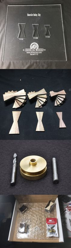 Other Handcrafted Pieces  Bow Tie Inlay Template Kit