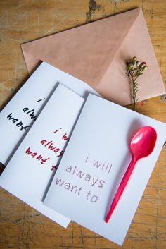 DIY Spooning Valentine's Day Card