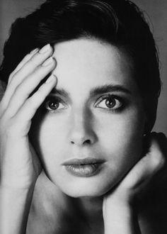 Isabella Rossellini, 1982. Photo: Richard Avedon.