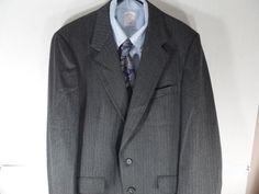 40L Hart Schaffner Marx Mens Herringbone Sport Coat Blazer Jacket Usa Gray #HartSchaffnerMarx #TwoButton