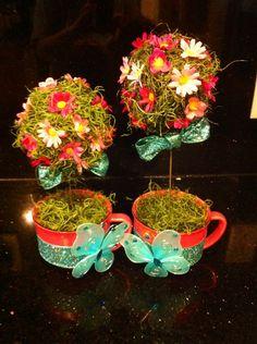 Tea cup Topiary. Alice in Wonderland. Tea Party