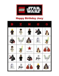 Lego Star Wars Birthday Party Game Bingo Cards   eBay