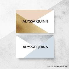 Majesty Business Card Template by Made By Hamilton on @creativemarket