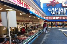 The Famous DC Fish Wharf.....fresh daily! Man I love this place!!!!