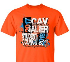 High School Impressions SC-110-w; Custom Student Council T Shirts, - Create your own design for t-shirts, hoodies, sweatshirts. Choose your Text, Ink and Garment Colors