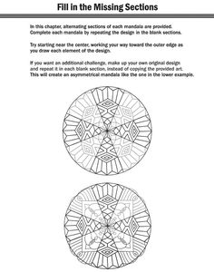 Welcome to Dover Publications How to Create Mandalas