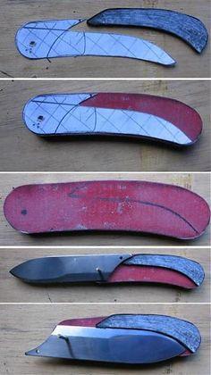 Friction Folder, Knife Template, Knife Shapes, Diy Knife, Knife Patterns, 3d Cnc, Neck Knife, Best Pocket Knife, Diy Camping