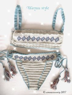 New ! Ethnic Pattern Wayuu Bikini ! yesss ! this is our new design ! 2017 Summer Fashion – they all look fabulous! Flirty and feminine!   © senoaccessory 2017   * made by Cotton Yarn ( hypoallergenic yarn !!!!! ) * top and bottom linned jersey ! * Washing instructions: Hand wash cold, dry flat * Sizes available: XXS ,XS, S, M, L ,XL *You can order different sizes top & bottom ** Please feel free to contact me for a custom order.   SEE MORE : SUMMERWEAR Bikini Sets // Coverups &#...