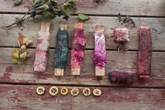 wrapped bundles of berries and leaves | Flickr - Photo Sharing!. Natural dye inspiration.