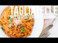 Op veler verzoek deel ik een heerlijk vegetarisch pastagerecht. Deze tagliatelle met geroosterde paprikasaus is súper lekker en een echte smaakbom. I Love Food, Good Food, Polenta, Gnocchi, Quick Meals, Macaroni And Cheese, Foodies, Nom Nom, Spaghetti