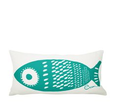 Single Tuna 10x20in Lumbar Pillow in TURQUOISE (59.00 USD) by erinflett