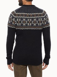 Placed-jacquard mohair sweater | Simons